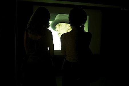 Installation view of Joseph Beuys' documentary video, Photo by Nica Junker | REALTOKYO